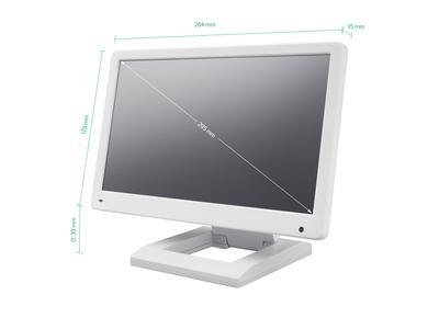 Écran 12 pouces (blanc) - horizontal
